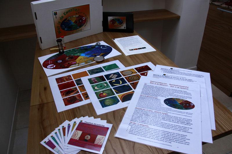 Instructiekaarten en wijsheidskaarten voor het voeren van een beeldendialoog